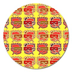 Funny Faces Magnet 5  (round) by Amaryn4rt