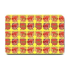 Funny Faces Small Doormat  by Amaryn4rt