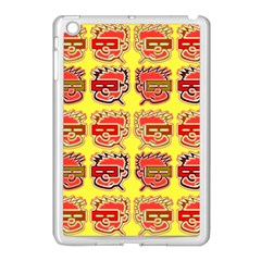 Funny Faces Apple Ipad Mini Case (white) by Amaryn4rt