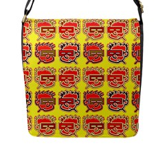 Funny Faces Flap Messenger Bag (l)  by Amaryn4rt