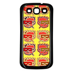 Funny Faces Samsung Galaxy S3 Back Case (black) by Amaryn4rt