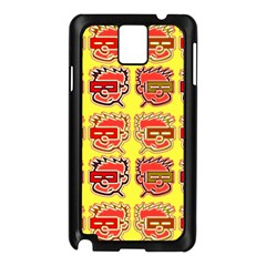 Funny Faces Samsung Galaxy Note 3 N9005 Case (black) by Amaryn4rt