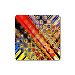 Background Texture Pattern Square Magnet by Amaryn4rt