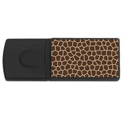 Leather Giraffe Skin Animals Brown Usb Flash Drive Rectangular (4 Gb)