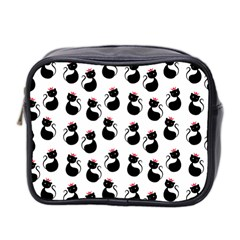 Cat Seamless Animal Pattern Mini Toiletries Bag 2 Side by Amaryn4rt