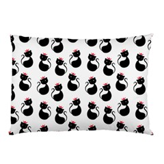 Cat Seamless Animal Pattern Pillow Case (two Sides) by Amaryn4rt