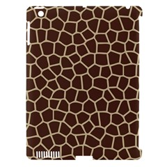 Leather Giraffe Skin Animals Brown Apple Ipad 3/4 Hardshell Case (compatible With Smart Cover) by Alisyart