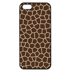 Leather Giraffe Skin Animals Brown Apple Iphone 5 Seamless Case (black)