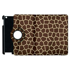 Leather Giraffe Skin Animals Brown Apple Ipad 3/4 Flip 360 Case