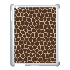 Leather Giraffe Skin Animals Brown Apple Ipad 3/4 Case (white)