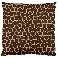 Leather Giraffe Skin Animals Brown Standard Flano Cushion Case (one Side)