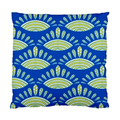 Sea Shells Blue Yellow Standard Cushion Case (two Sides)