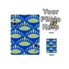 Sea Shells Blue Yellow Playing Cards 54 (mini)