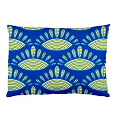 Sea Shells Blue Yellow Pillow Case (two Sides)