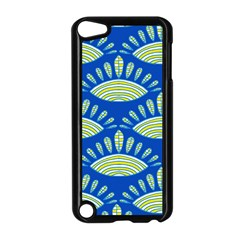 Sea Shells Blue Yellow Apple Ipod Touch 5 Case (black)