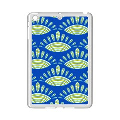 Sea Shells Blue Yellow Ipad Mini 2 Enamel Coated Cases