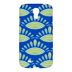 Sea Shells Blue Yellow Samsung Galaxy S4 I9500/i9505 Hardshell Case