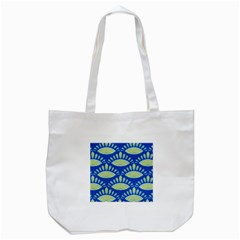 Sea Shells Blue Yellow Tote Bag (white)