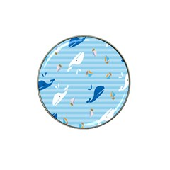 Whaling Ship Blue Sea Beach Animals Hat Clip Ball Marker (10 Pack)