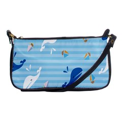 Whaling Ship Blue Sea Beach Animals Shoulder Clutch Bags