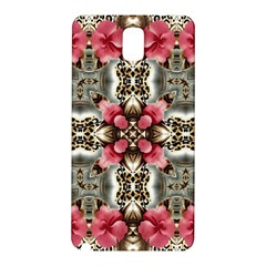 Flowers Fabric Samsung Galaxy Note 3 N9005 Hardshell Back Case by Amaryn4rt