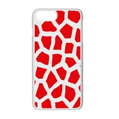Animal Animalistic Pattern Apple Iphone 7 Plus White Seamless Case by Amaryn4rt