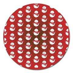 Card Cartoon Christmas Cold Magnet 5  (round) by Amaryn4rt