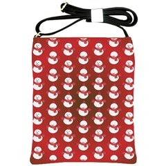 Card Cartoon Christmas Cold Shoulder Sling Bags by Amaryn4rt