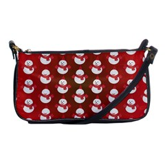Card Cartoon Christmas Cold Shoulder Clutch Bags by Amaryn4rt