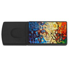 Background Structure Absstrakt Color Texture Usb Flash Drive Rectangular (4 Gb) by Amaryn4rt