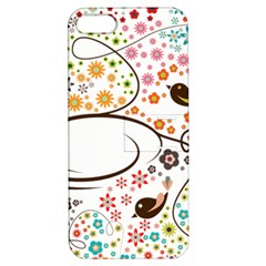 Flower Floral Rose Sunflower Bird Back Color Orange Purple Yellow Red Apple Iphone 5 Hardshell Case With Stand
