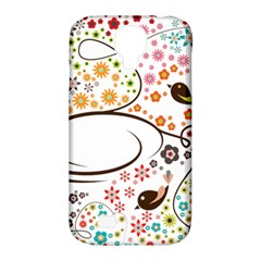 Flower Floral Rose Sunflower Bird Back Color Orange Purple Yellow Red Samsung Galaxy S4 Classic Hardshell Case (pc+silicone) by Alisyart