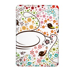 Flower Floral Rose Sunflower Bird Back Color Orange Purple Yellow Red Samsung Galaxy Tab 2 (10 1 ) P5100 Hardshell Case