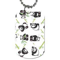 Panda Tile Cute Pattern Dog Tag (two Sides) by Amaryn4rt