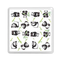 Panda Tile Cute Pattern Memory Card Reader (square)  by Amaryn4rt