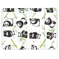Panda Tile Cute Pattern Samsung Galaxy Tab 7  P1000 Flip Case by Amaryn4rt