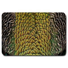Colorful Iridescent Feather Bird Color Peacock Large Doormat