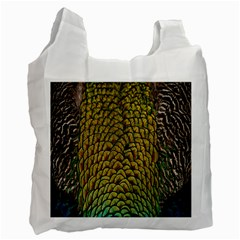 Colorful Iridescent Feather Bird Color Peacock Recycle Bag (one Side) by Amaryn4rt