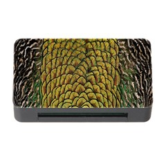 Colorful Iridescent Feather Bird Color Peacock Memory Card Reader With Cf by Amaryn4rt