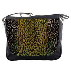 Colorful Iridescent Feather Bird Color Peacock Messenger Bags by Amaryn4rt