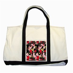 Flower Arrangements Season Rose Butterfly Floral Pink Red Yellow Two Tone Tote Bag