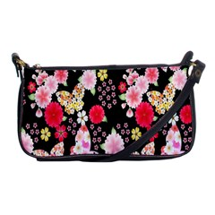 Flower Arrangements Season Rose Butterfly Floral Pink Red Yellow Shoulder Clutch Bags by Alisyart