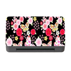 Flower Arrangements Season Rose Butterfly Floral Pink Red Yellow Memory Card Reader With Cf