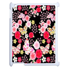 Flower Arrangements Season Rose Butterfly Floral Pink Red Yellow Apple Ipad 2 Case (white)