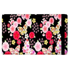 Flower Arrangements Season Rose Butterfly Floral Pink Red Yellow Apple Ipad 3/4 Flip Case by Alisyart