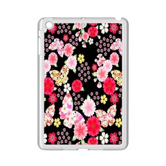 Flower Arrangements Season Rose Butterfly Floral Pink Red Yellow Ipad Mini 2 Enamel Coated Cases