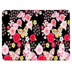 Flower Arrangements Season Rose Butterfly Floral Pink Red Yellow Samsung Galaxy Tab 7  P1000 Flip Case