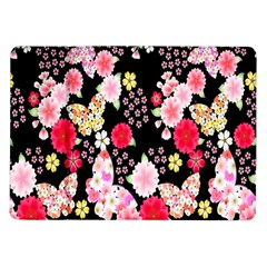 Flower Arrangements Season Rose Butterfly Floral Pink Red Yellow Samsung Galaxy Tab 10 1  P7500 Flip Case