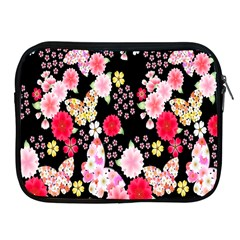 Flower Arrangements Season Rose Butterfly Floral Pink Red Yellow Apple Ipad 2/3/4 Zipper Cases by Alisyart