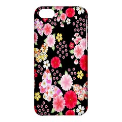 Flower Arrangements Season Rose Butterfly Floral Pink Red Yellow Apple Iphone 5c Hardshell Case by Alisyart